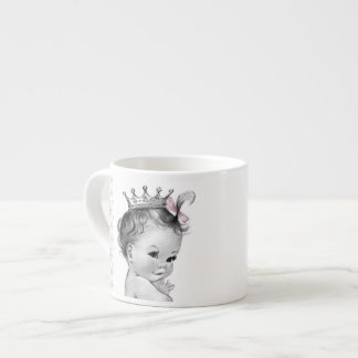 Vintage Pink Princess Baby Cups Espresso Cups