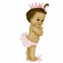 Vintage Pink Princess Baby Girl Shower Statuette