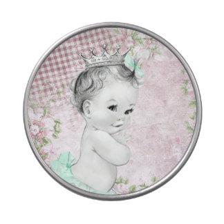 Vintage Pink Princess Baby Shower Candy Tins