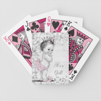 Vintage Pink Princess Playing Cards
