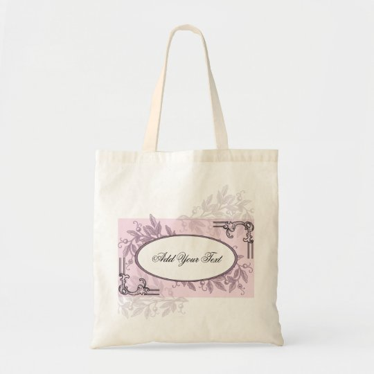 Vintage Pink Purple Floral Business Tote Bag