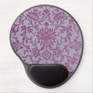Vintage Pink Purple Floral Pattern Gel Mouse Pad