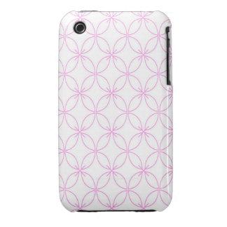 Vintage pink  quatrefoil trellis pattern Case-Mate iPhone 3 case
