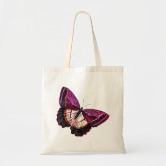Vintage Pink Red Butterfly 1896 Blank Template Budget Tote Bag