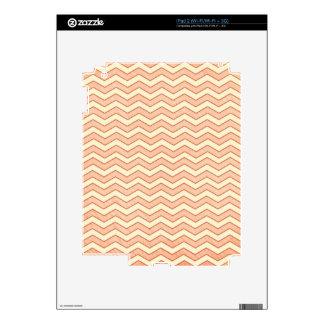 Vintage Pink. Retro Chevron Pattern iPad 2 Decals