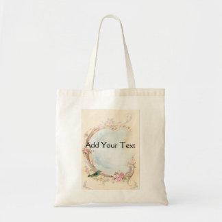 Vintage Pink Rose and Robin Wedding Business Bag