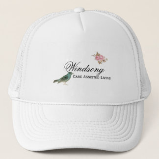 Vintage Pink Rose and Robin Wedding Business Trucker Hat