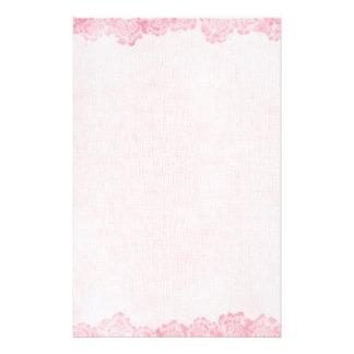 Vintage Pink Rose Border Stationery
