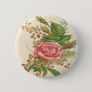 Vintage Pink Rose Button