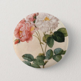 Vintage Pink Rose Button