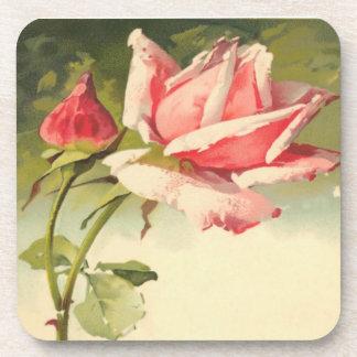 Vintage Pink Rose Coaster