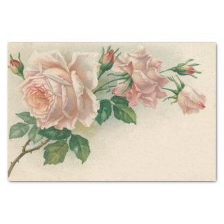"""Vintage Pink Rose 10"""" X 15"""" Tissue Paper"""