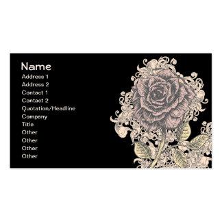 Vintage Pink Rose Grunge Background Business Card