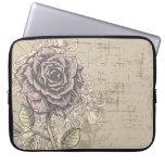 Vintage Pink Rose Grunge Background Laptop Computer Sleeves