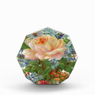 Vintage Pink Rose, Happy Birthday Mother Acrylic Award