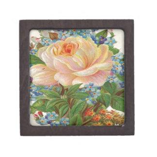 Vintage Pink Rose, Happy Birthday Mother Jewelry Box