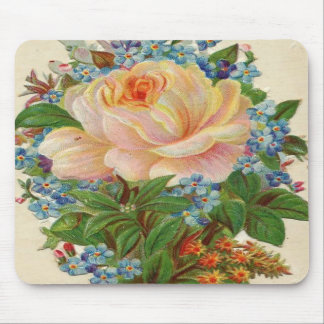 Vintage Pink Rose, Happy Birthday Mother Mouse Pad