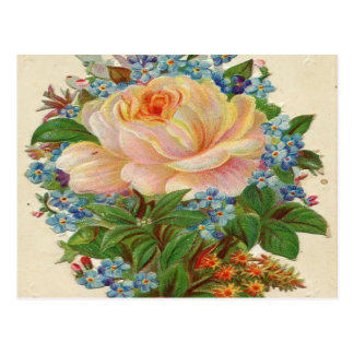 Vintage Pink Rose, Happy Birthday Mother Postcard