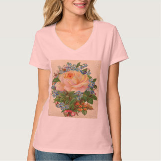Vintage Pink Rose, Happy Birthday Mother T Shirt