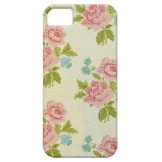 Vintage Pink Rose iPhone 5 5S Case