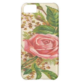 Vintage Pink Rose iPhone 5C Cases