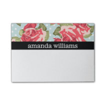 Vintage Pink Rose Post-it Notes