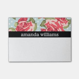 Vintage Pink Rose Post-it® Notes