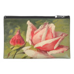 Vintage Pink Rose Travel Accessory Bags