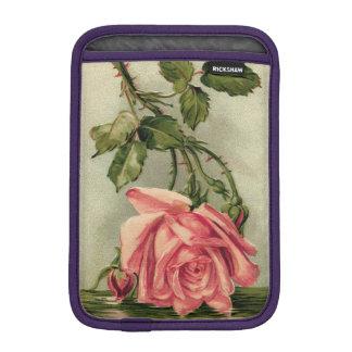Vintage Pink Rose Upside Down in Water iPad Mini Sleeve