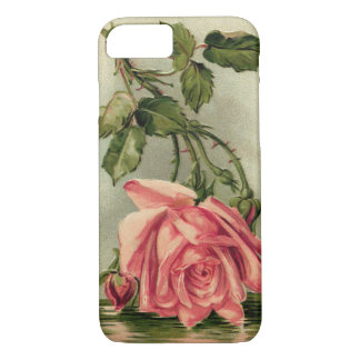 Vintage Pink Rose Upside Down in Water iPhone 8/7 Case