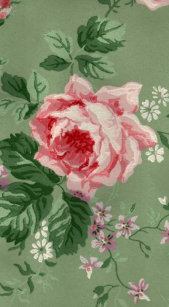 Vintage Pink Rose Wallpaper Print Tough iPhone 6 Plus Case