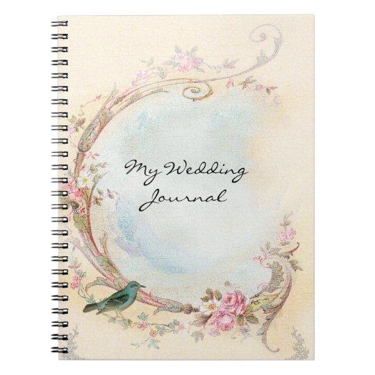 Vintage Pink Rose Wedding Journal