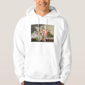 Vintage Pink Roses and White Lilacs Hoodie