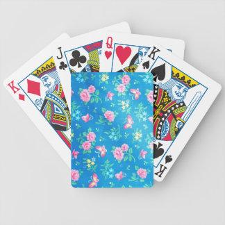 Vintage Pink Roses Bicycle Playing Cards