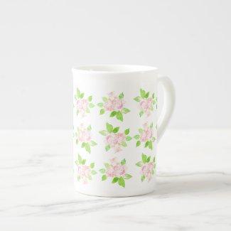 Vintage Pink Roses Bone China Mug