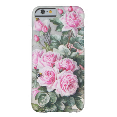 Vintage Pink Roses Bouquet iPhone 6 Case