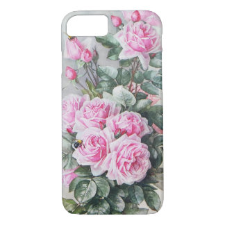 Vintage Pink Roses Bouquet iPhone 7 Case