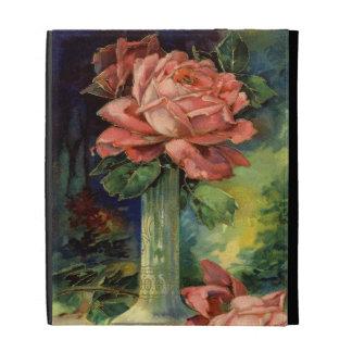 Vintage Pink Roses iPad Folio Cover
