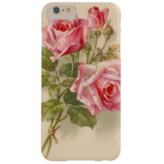 Vintage Pink Roses Barely There iPhone 6 Plus Case