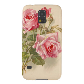 Vintage Pink Roses Cases For Galaxy S5