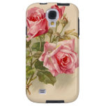 Vintage Pink Roses Galaxy S4 Case