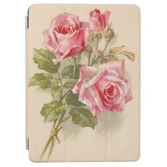Vintage Pink Roses Ipad Air Cover at Zazzle