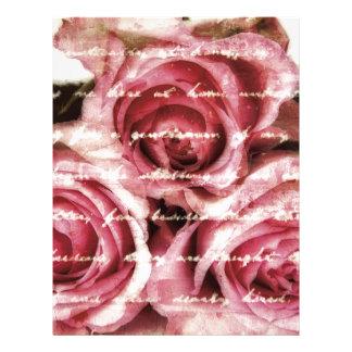 Vintage Pink Roses Letterhead