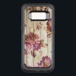 """Vintage Pink Roses on Wood Samsung Galaxy S8 Case<br><div class=""""desc"""">Vintage elegant flowering roses in shades of pink on a wooden fence background. A lovely stylish and romantic shabby chic design.</div>"""