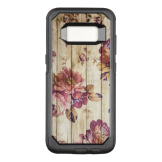 Vintage Pink Roses on Wood Samsung Galaxy S8 Case