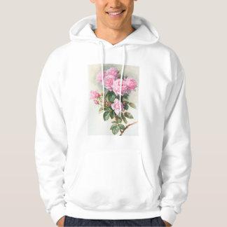 Vintage Pink Roses Painting Hoodie