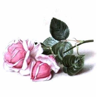 Vintage Pink Roses Photo Cutouts