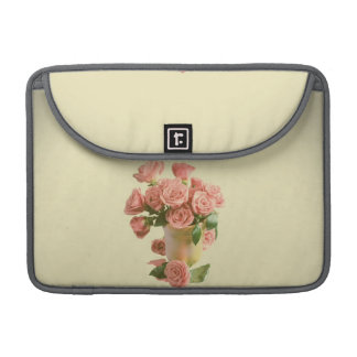 Vintage Pink Roses Retro Flowers Sleeve For MacBook Pro