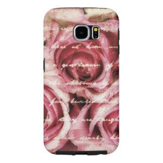 Vintage Pink Roses Samsung Galaxy S6 Case