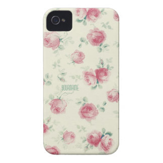 Vintage Pink Roses Texture iPhone 4 Case-Mate Case